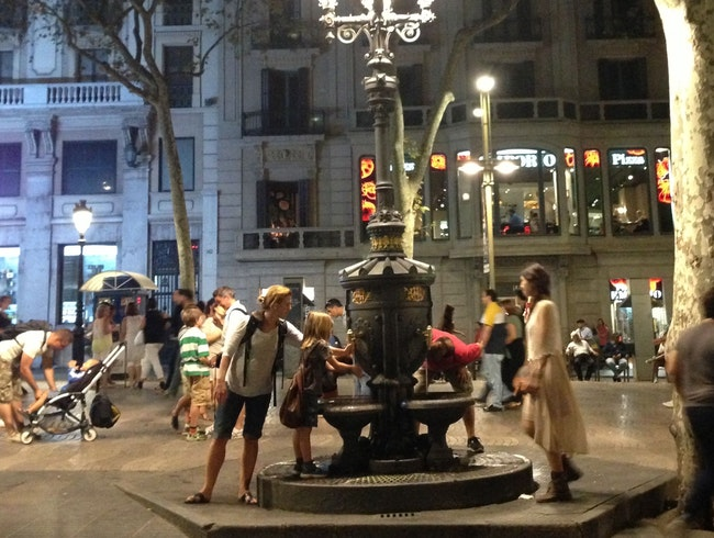 Rinse your hands in the water that will bring you back to Barcelona