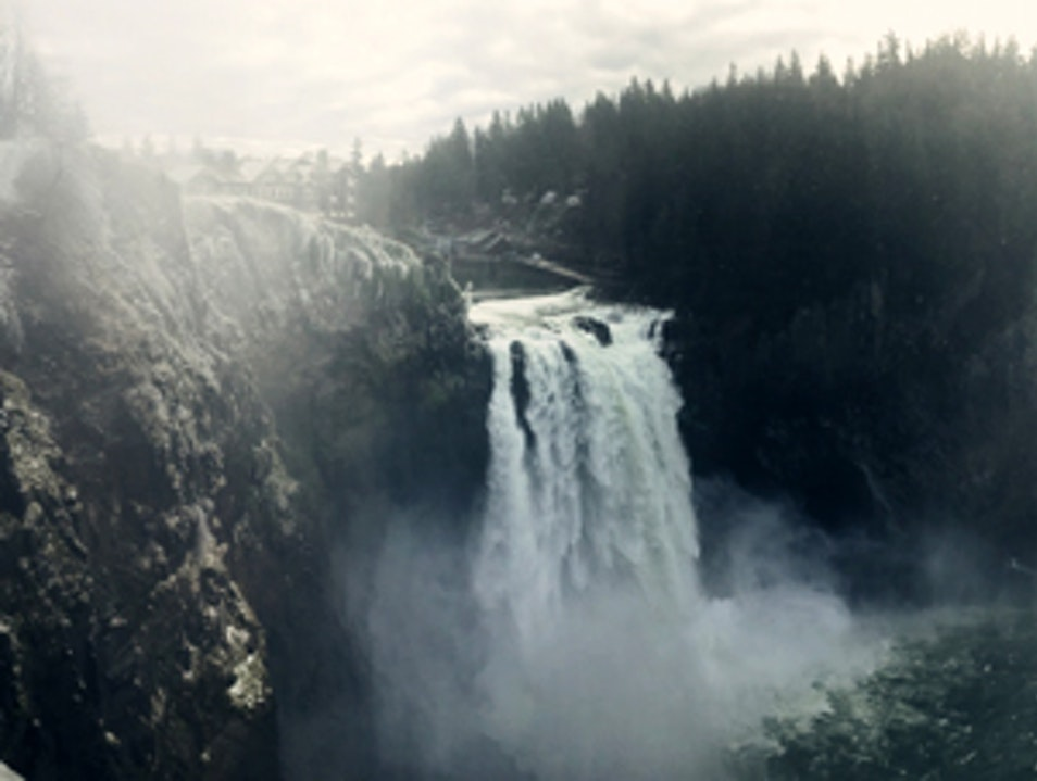 Snoqualmie Falls in Winter Snoqualmie Washington United States