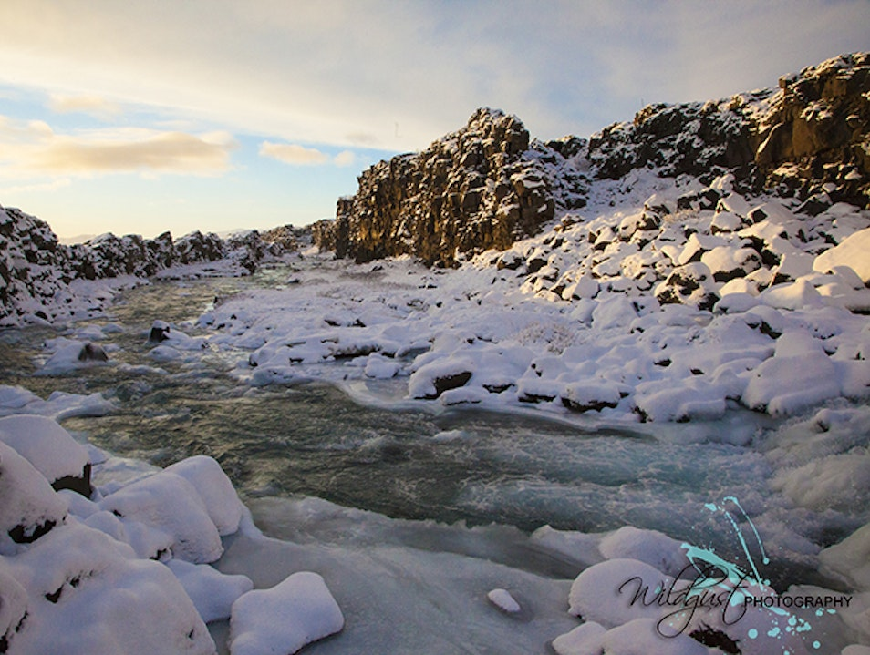 A walk through Pingvellir National Park South  Iceland