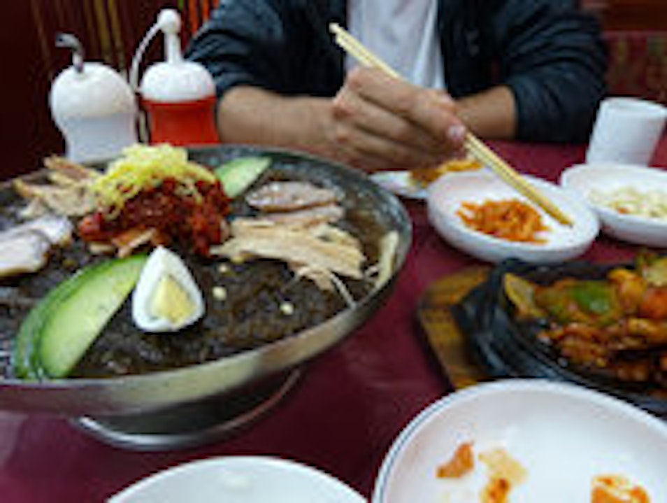 Try out North Korean food