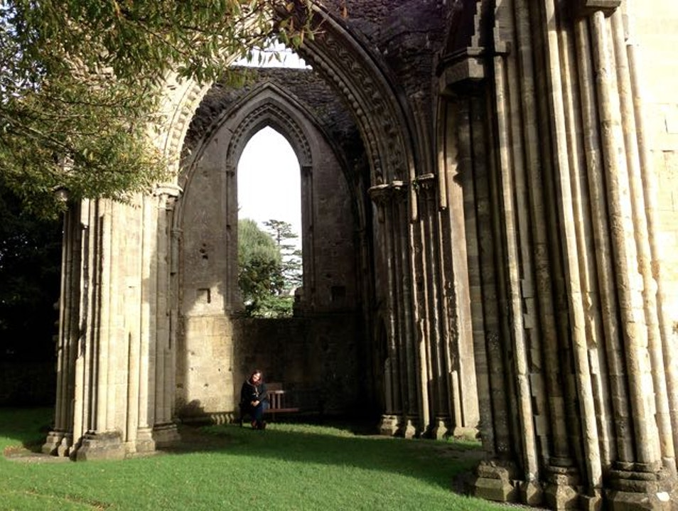 Stroll among the ruins of  an early Christian Sanctuary Glastonbury  United Kingdom