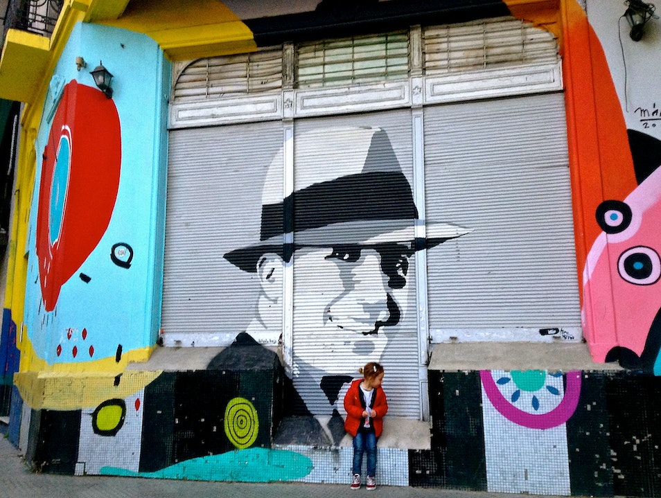 Exploring tango-themed street art in Abasto Abasto  Argentina