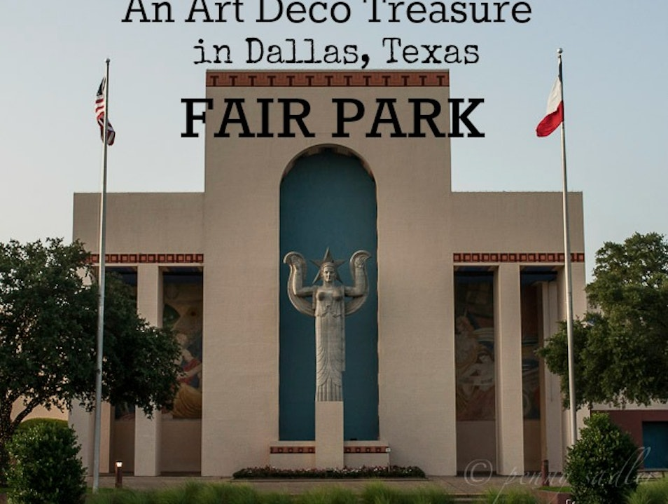 An Outdoor Art Deco Museum in Dallas Dallas Texas United States