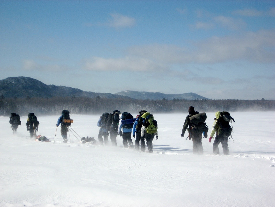 Cross-Country Skiing New Portland Maine United States