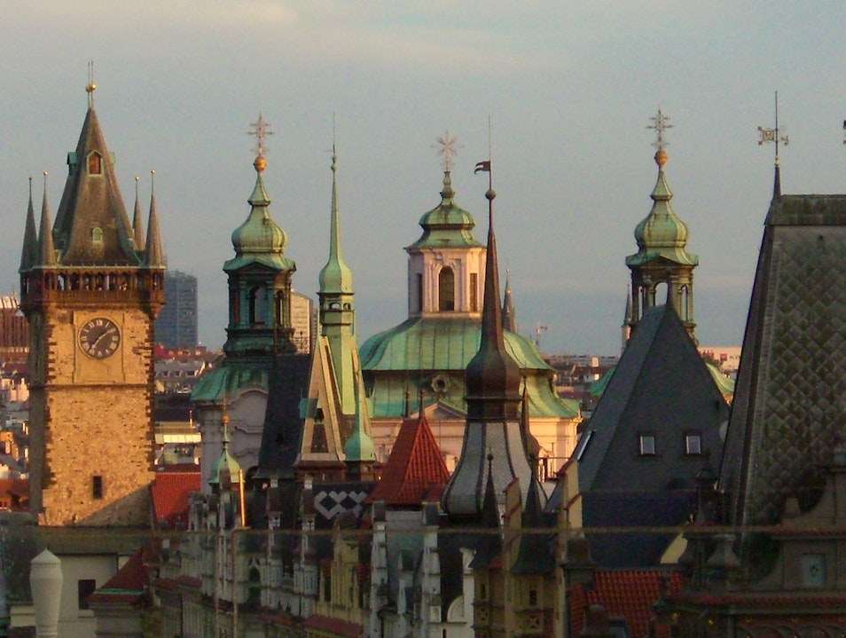 Floating spires Prague  Czech Republic