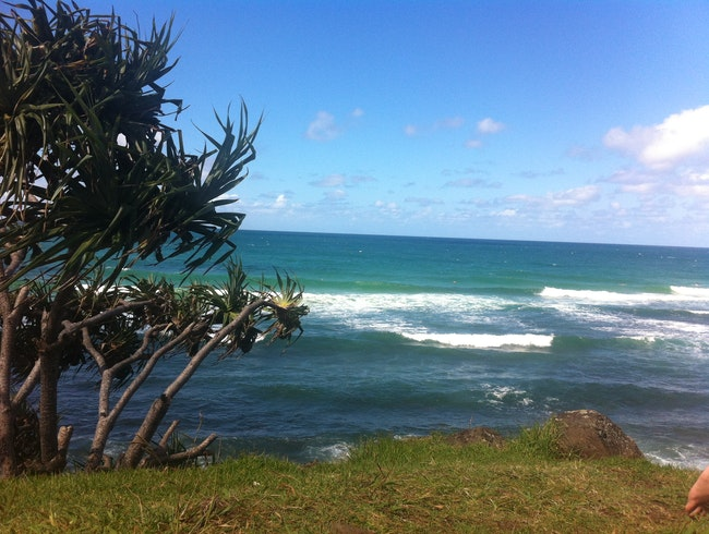 Snoozing in the sun at Burleigh Heads