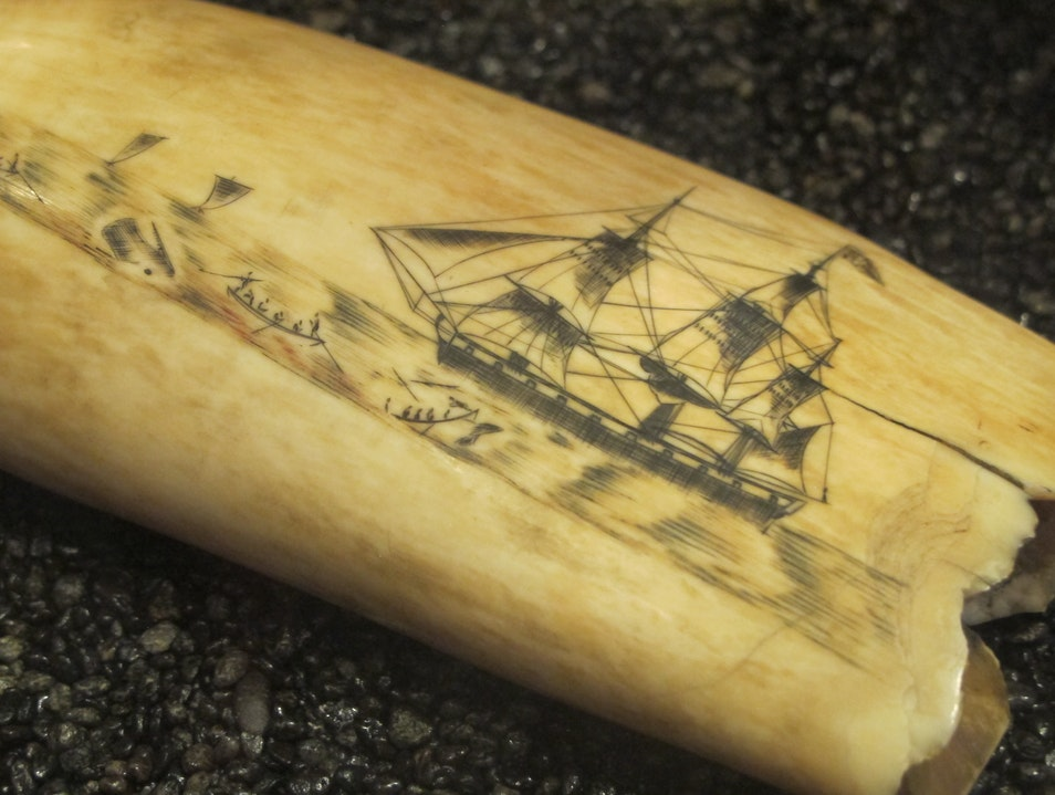 Learn about Scrimshaw at the Whalers Village Museum Lahaina Hawaii United States