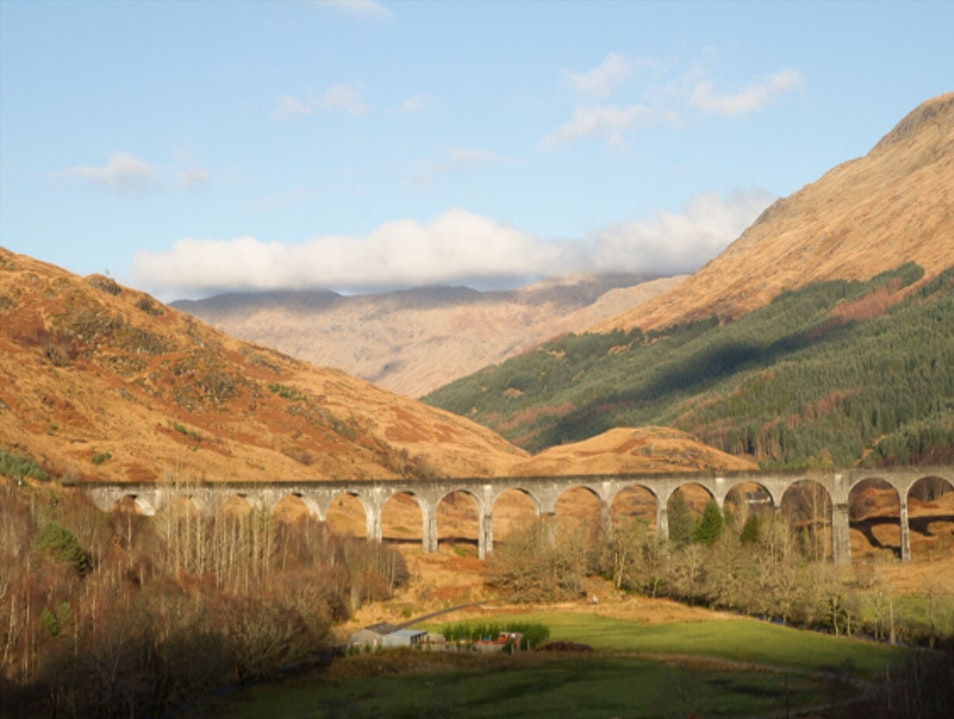 Train route to Hogwarts Glenfinnan  United Kingdom