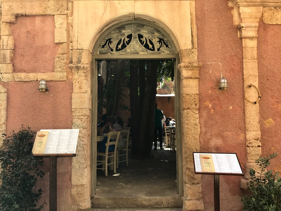 Traditional Greek Taverna in Gorgeous Courtyard Chania  Greece