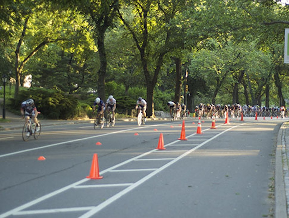 An Exclusive Bike Race in Central Park New York New York United States