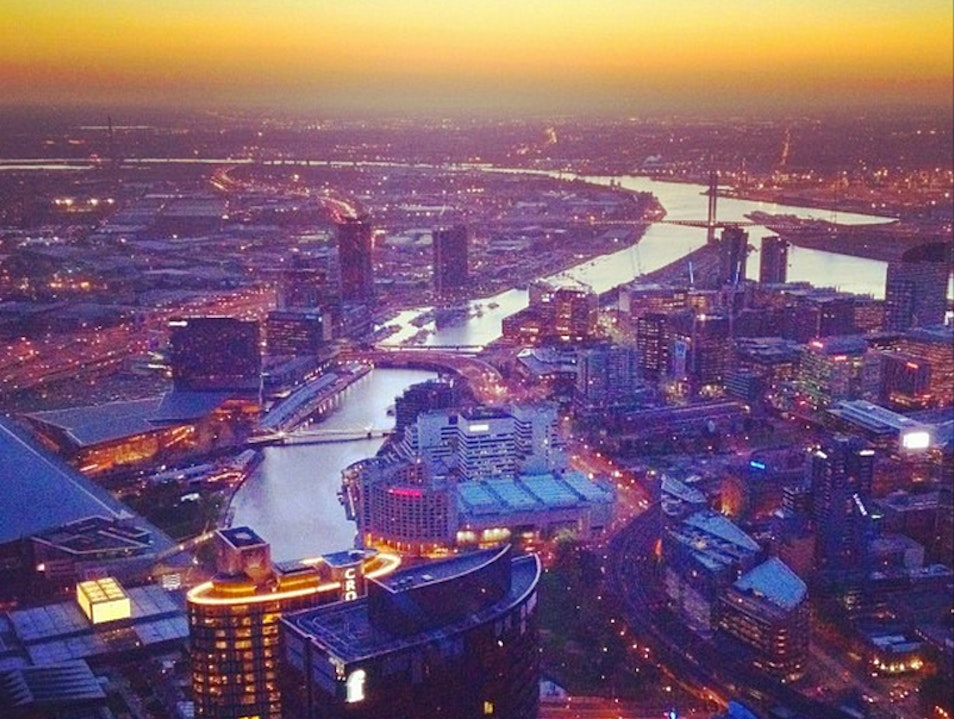 Get a view of the city from Eureka Skydeck 88 Southbank  Australia
