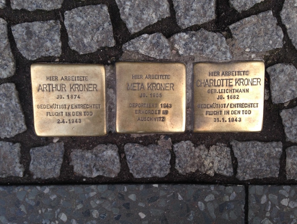Stumbling Stones Holocaust Memorials Niedergörsdorf  Germany
