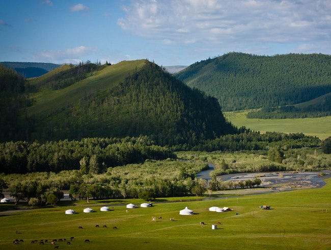 Lapis Sky Camp in the Khangai Mountain Valley, Western Mongolia