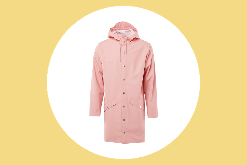 Dreary days are no match for this cheery rain jacket.