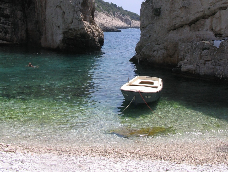 Hidden Cove in Vis Duboka  Croatia