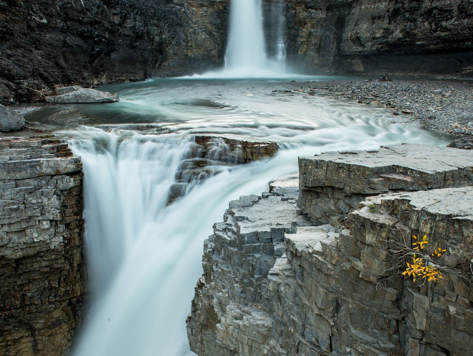 Watching Alberta's Hidden Waterfalls Clearwater County  Canada