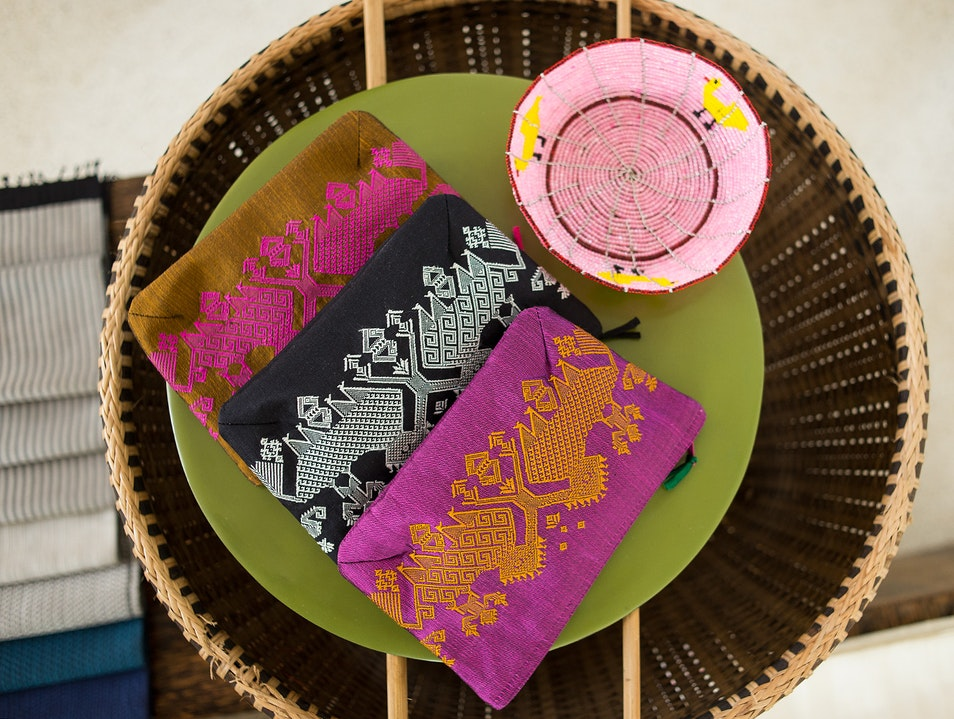 Handwoven textiles and other gifts that give Siem Reap  Cambodia
