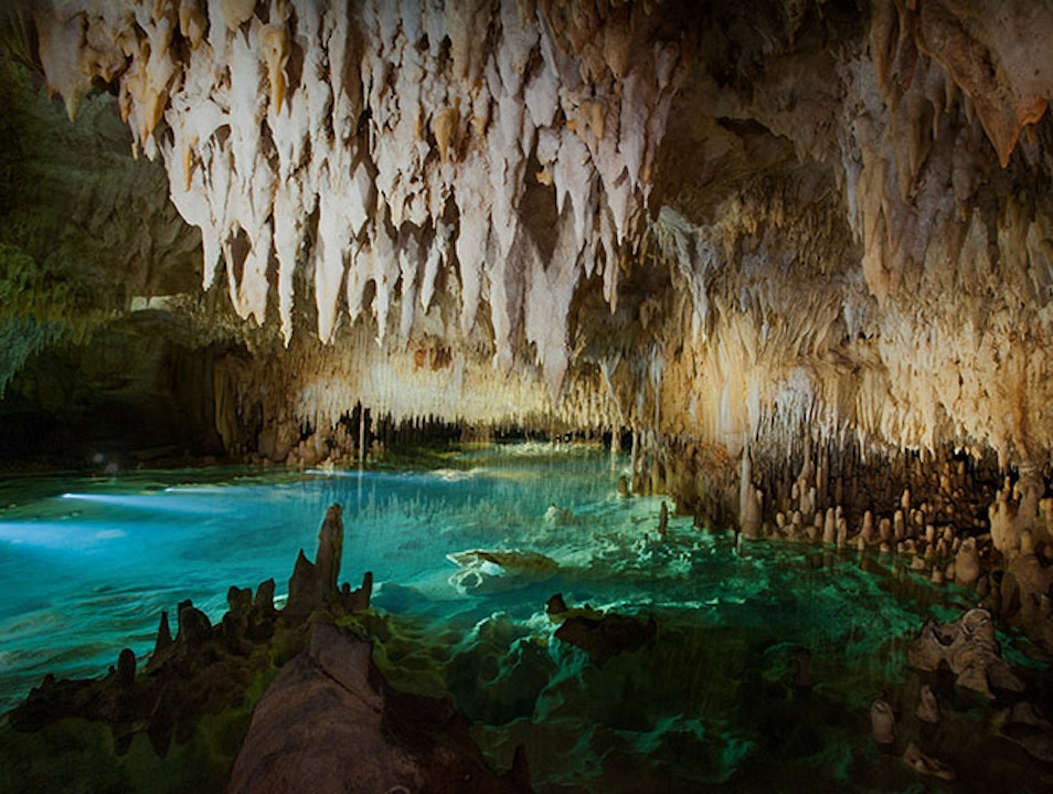 Crystal Caves Rum Point  Cayman Islands