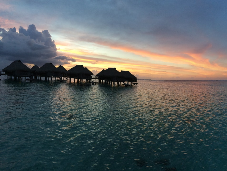 Saving Money While Enjoying the Sunset View in an Overwater Bungalow Îles Du Vent  French Polynesia