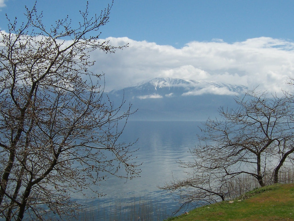 Lake Ohrid Pogradec District  Albania
