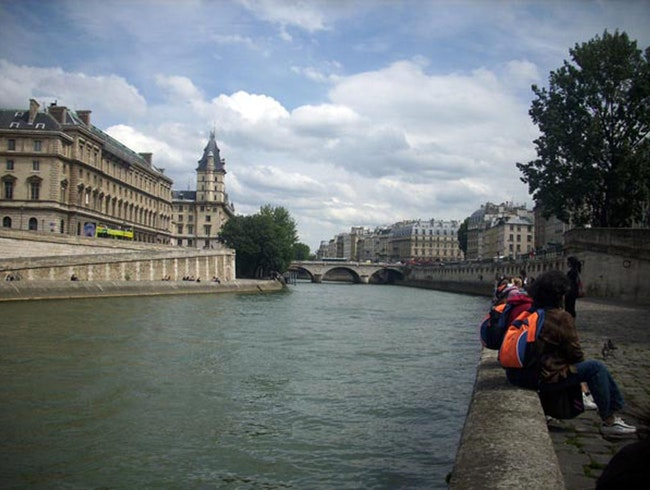 By the Seine River