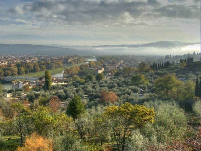 Morning View from Piazzale Michelangelo, Florence, Italy