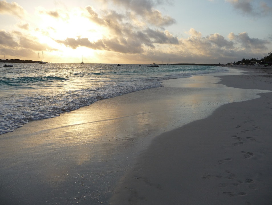 Soft White Sand and Turquoise Waters at Orient Bay Beach