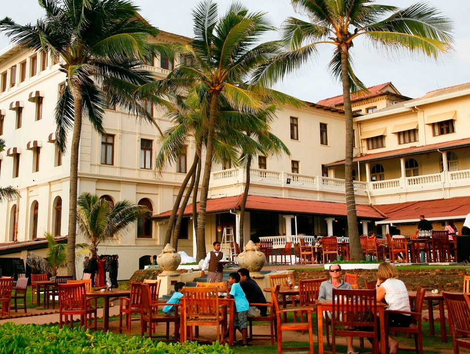 Verandah Bar at the Galle Face Hotel Colombo  Sri Lanka