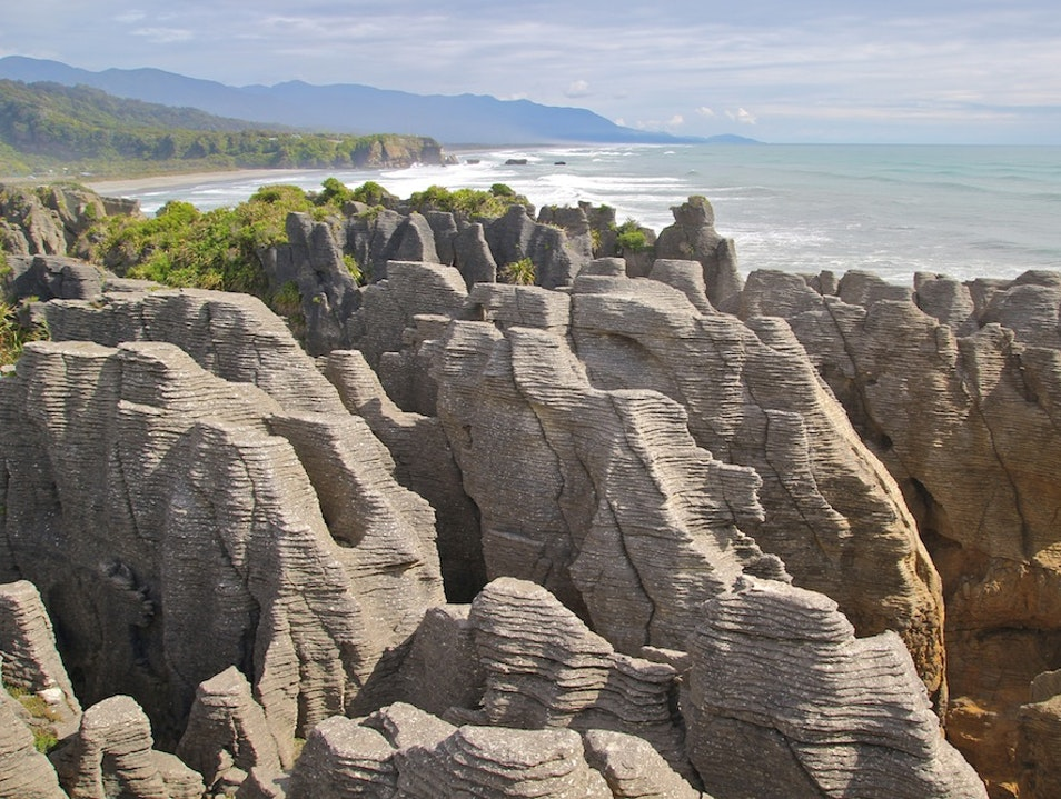 Walk Along the Pancake Rocks in Punakaiki Punakaiki  New Zealand