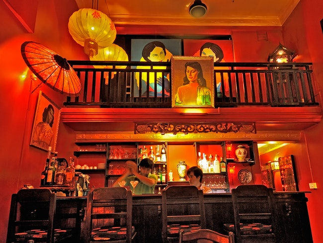 Siem Reap's most atmospheric cocktail bar