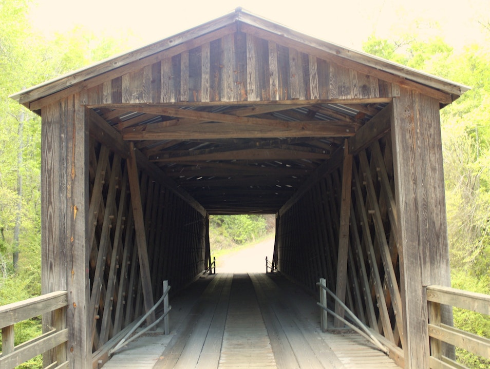 Driving Over Georgia's Historic Covered Bridge