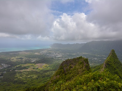 Mount Olomana Hiking Trail Honolulu Hawaii United States