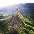 Mount Olomana Hiking Trail Kailua Hawaii United States
