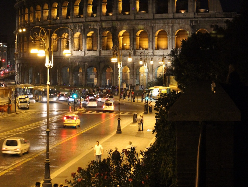 The Colosseum in the Evening Rome  Italy