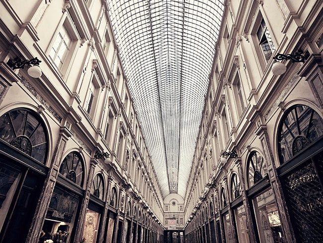 Brussels Beautiful Covered Shopping Arcade