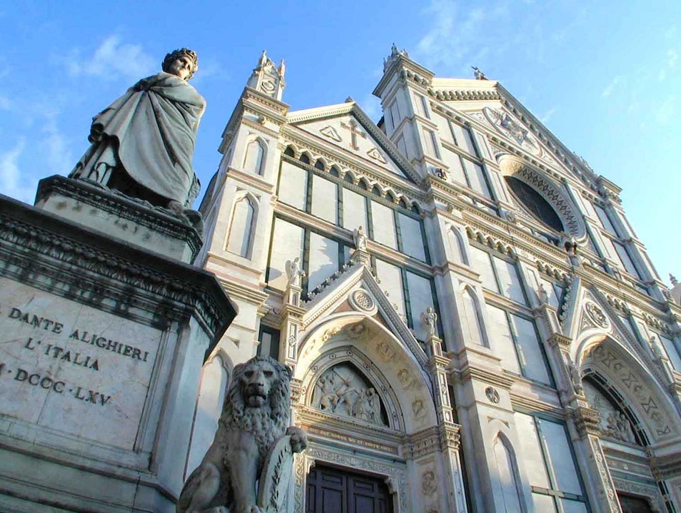 Tombs, frescoes and floods in Santa Croce Florence  Italy