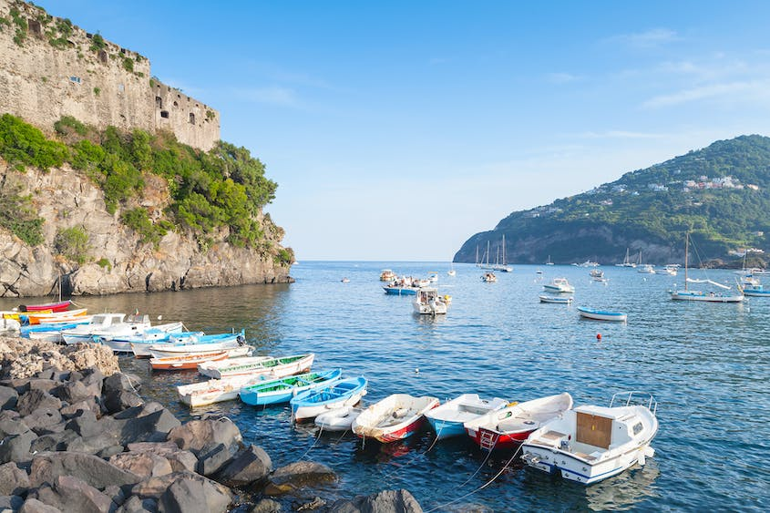"""In the second season, """"The Story of a New Name,"""" the show's protagonists spend a summer in Ischia, an island in the Gulf of Naples."""