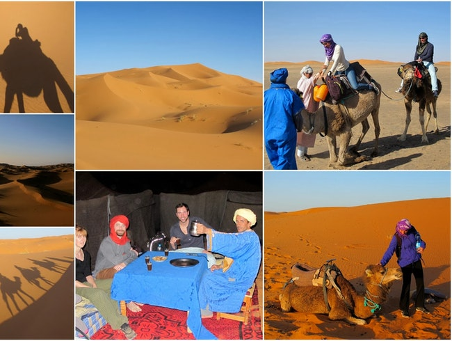 1 Night in the Desert  Camel Tour and Nights in the desert of Merzouga