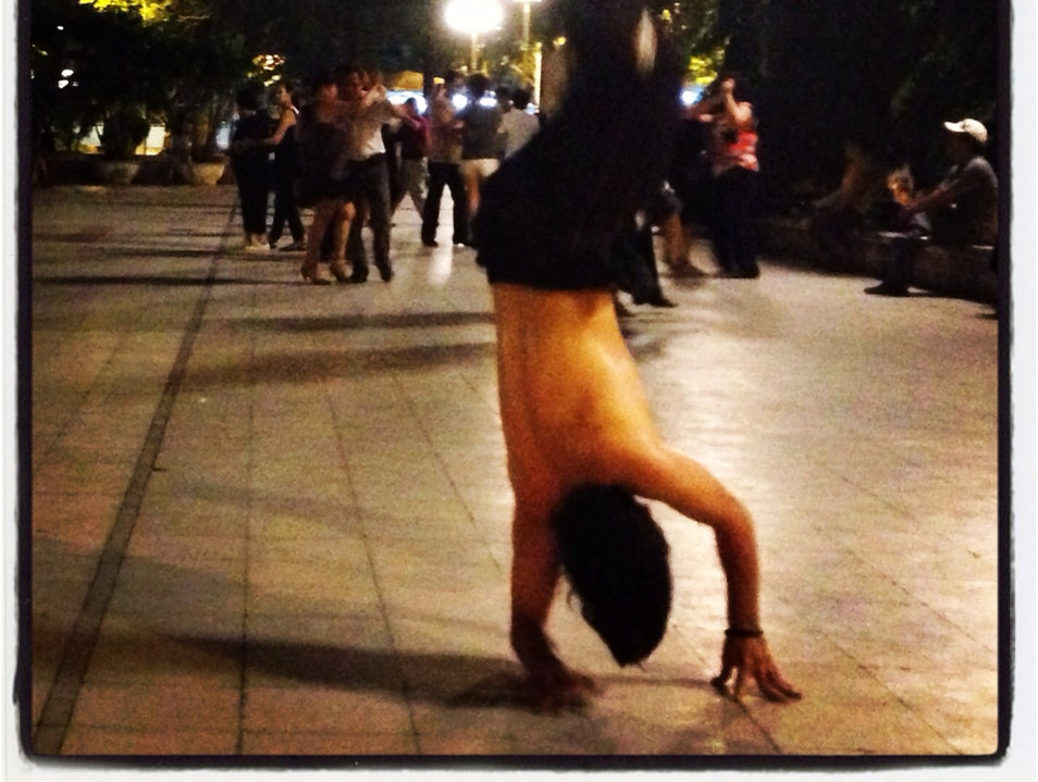 Ballroom and breakdancing in Saigon