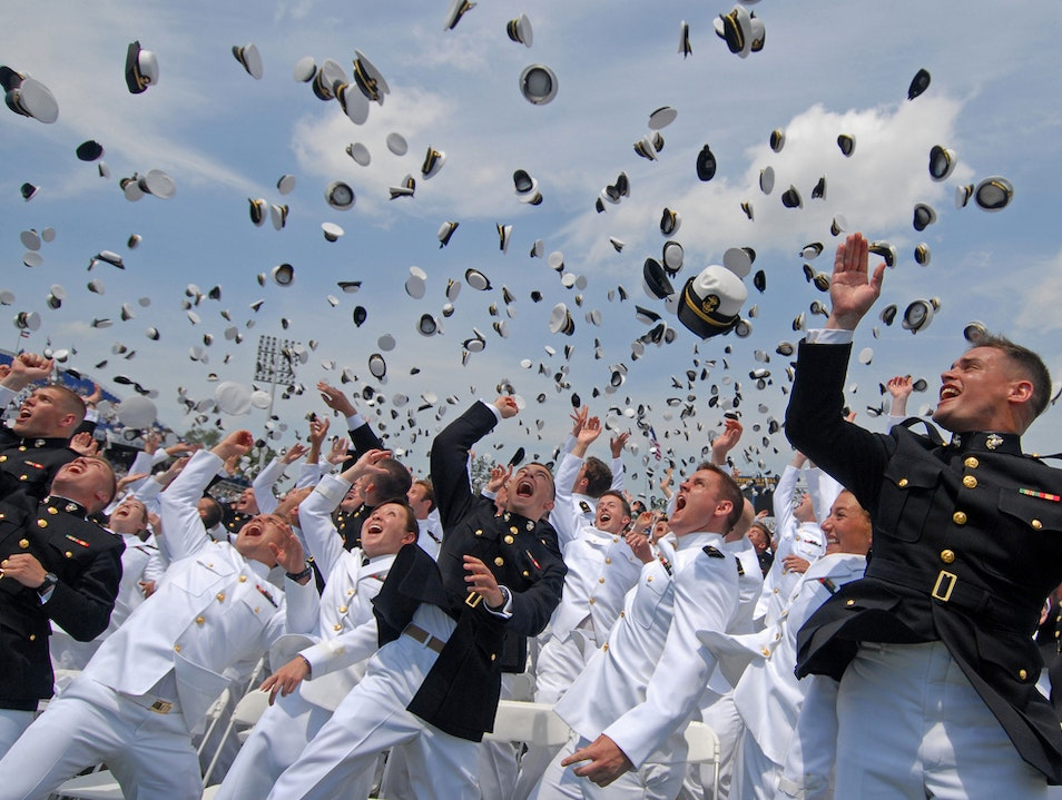 Stroll with Sailors at the US Naval Academy Annapolis Maryland United States