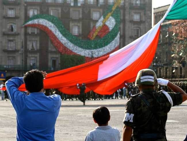 Experience the Zócalo Flag Ceremony