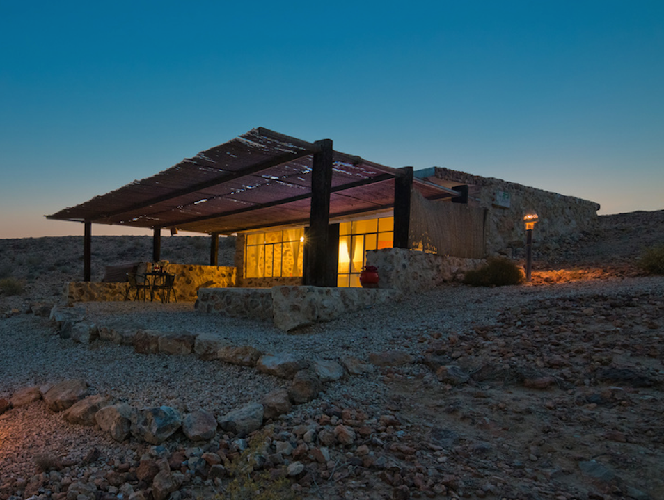Camping and relaxing in the Negev Desert
