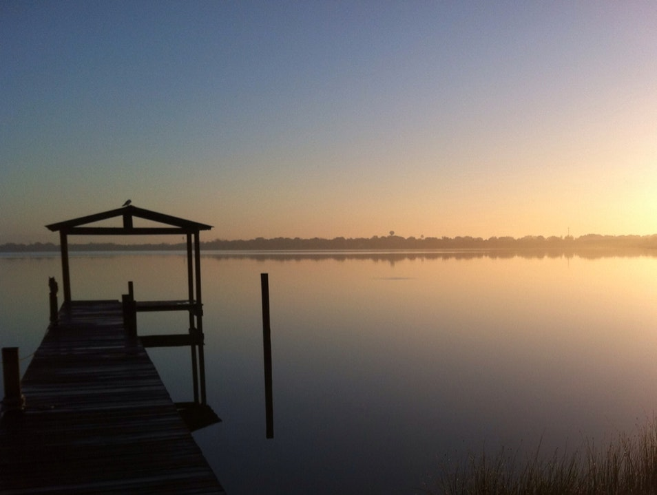 Lake Clinch Sunrise  Frostproof Florida United States