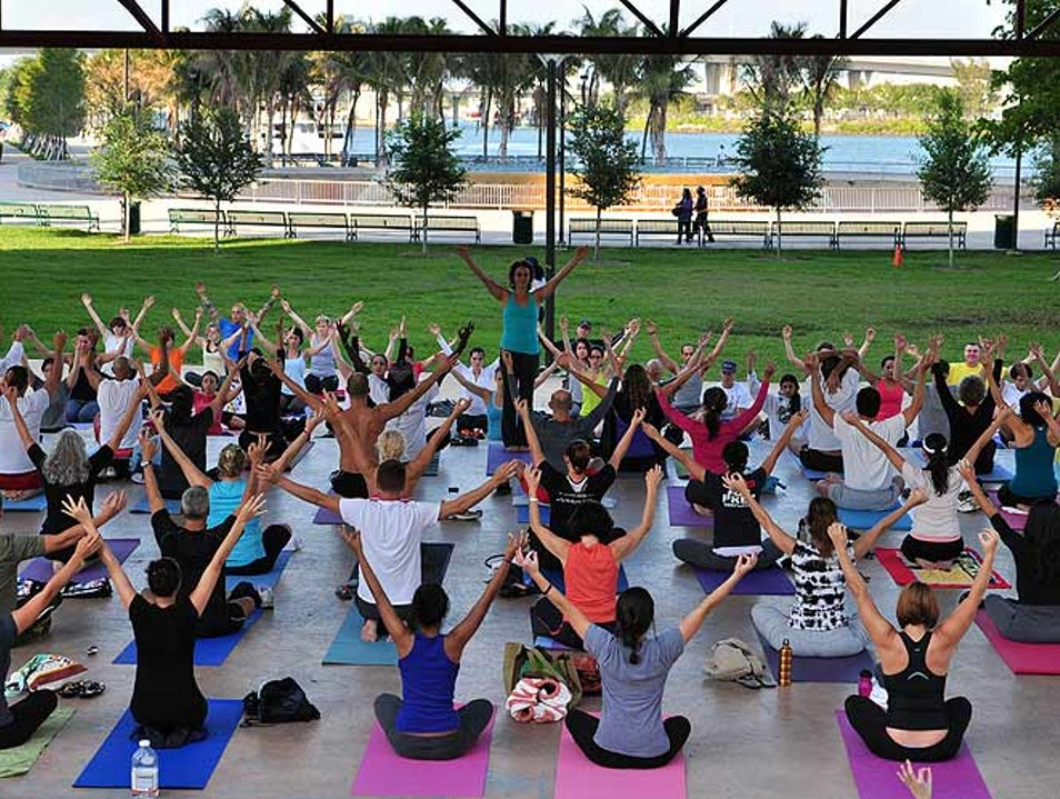 Free Yoga on the Bay