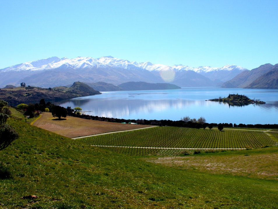 Sippin' Wine at Rippon Winery & Vineyard Wanaka  New Zealand