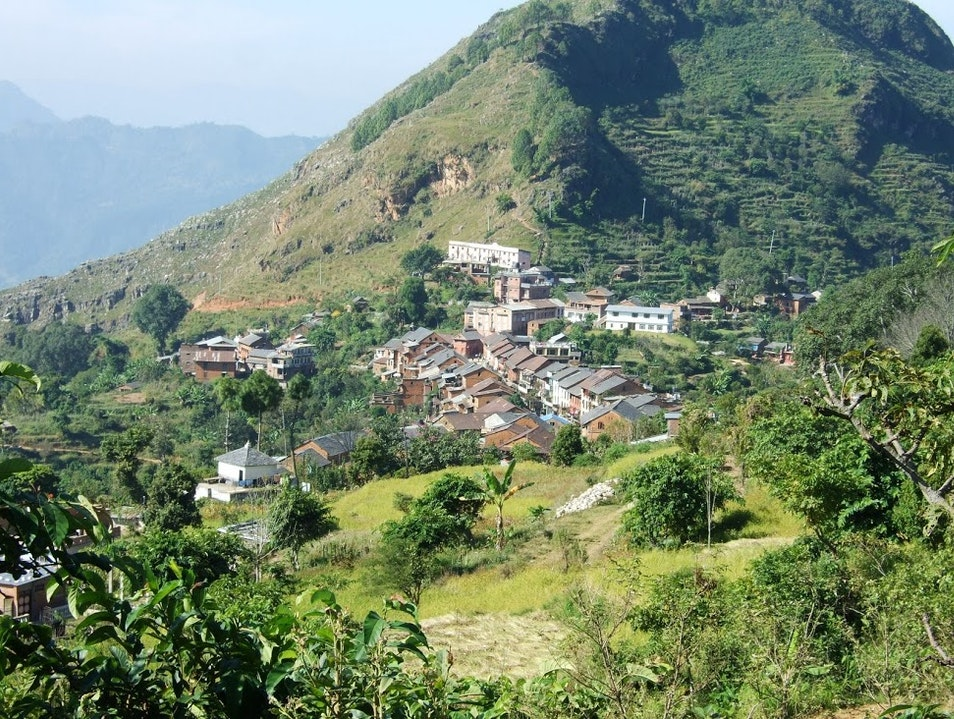 Roadless village with Himalayan Views Bandipur  Nepal