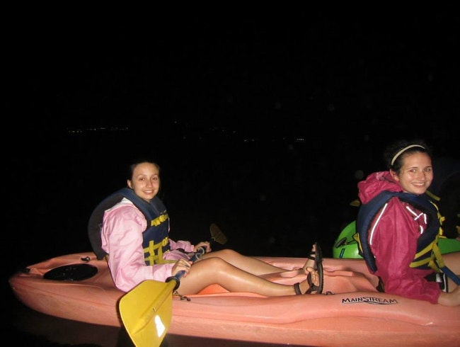 Night Kayaking in a Bioluminescent Bay