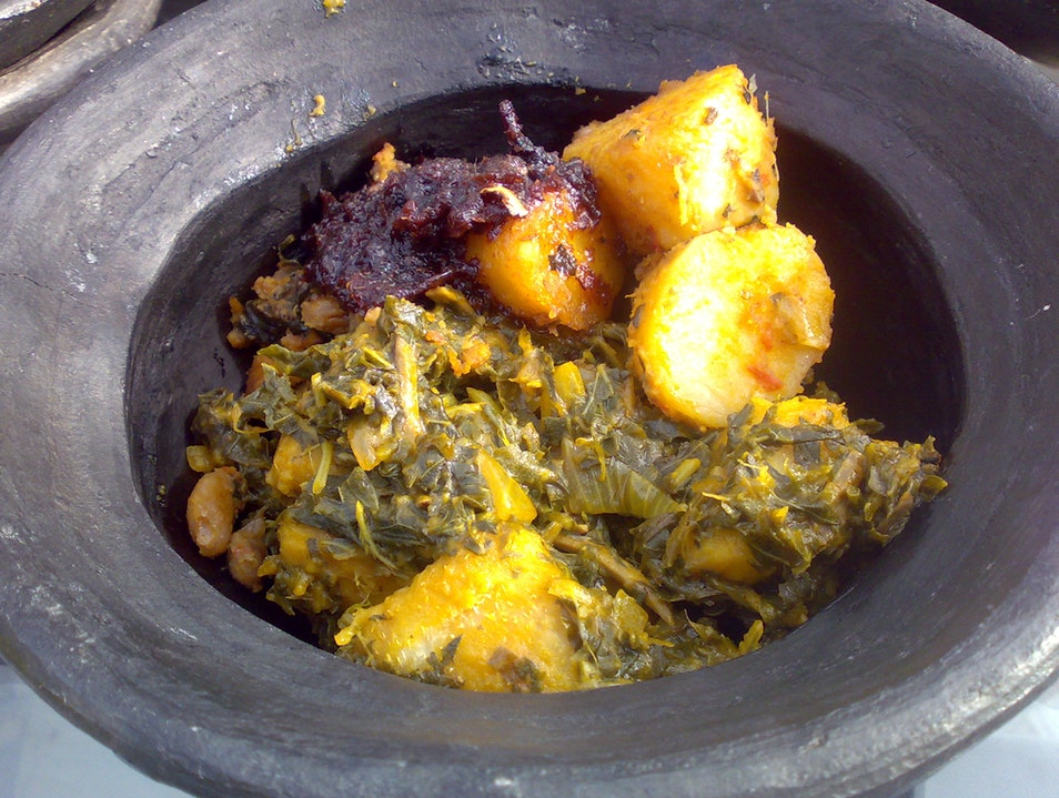 Traditional Food of the Ibo People Lagos  Nigeria