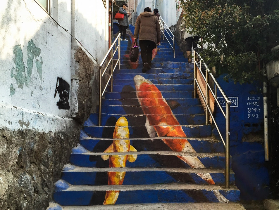 Whimsical & Interactive Street Art Seoul  South Korea