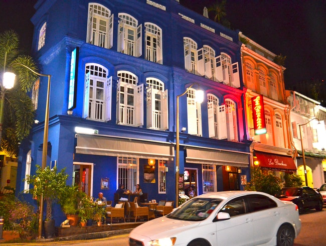Drinks, People-Watching, and Color in Singapore